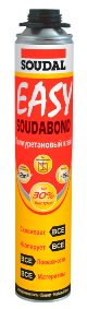 Полиуретановый клей в аэрозоле Soudabond Easy Gun